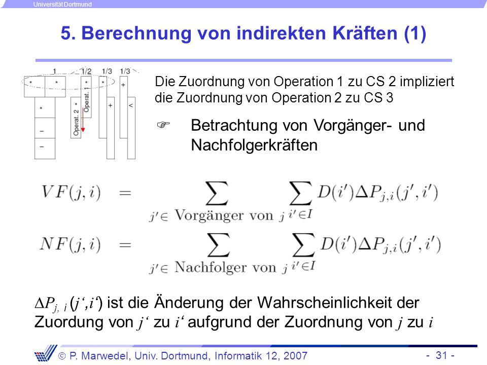5. Berechnung von indirekten Kräften (1)