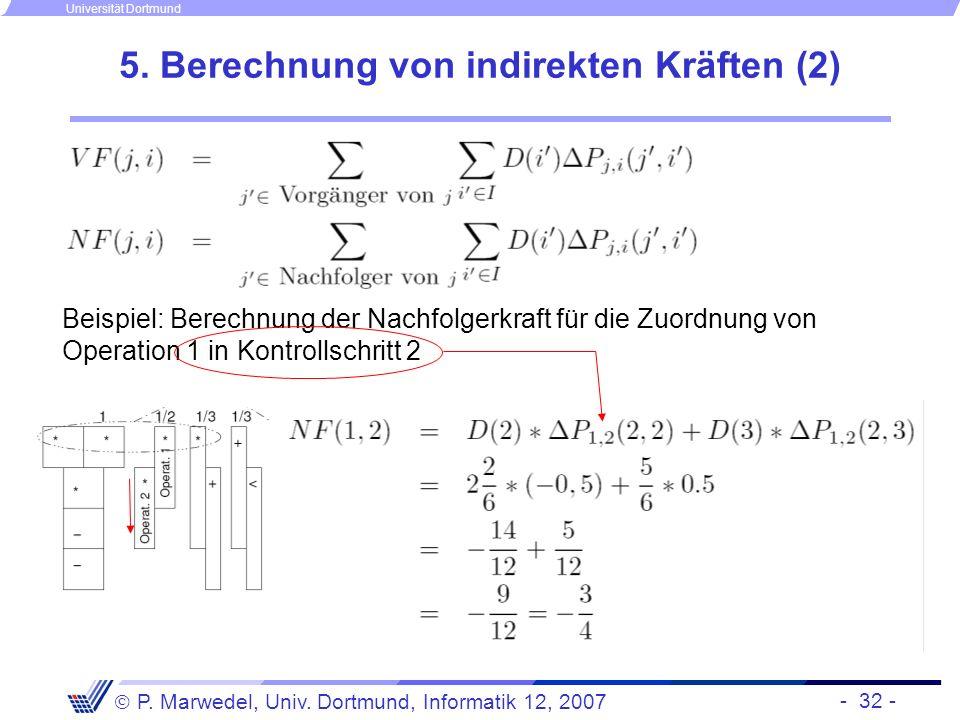 5. Berechnung von indirekten Kräften (2)