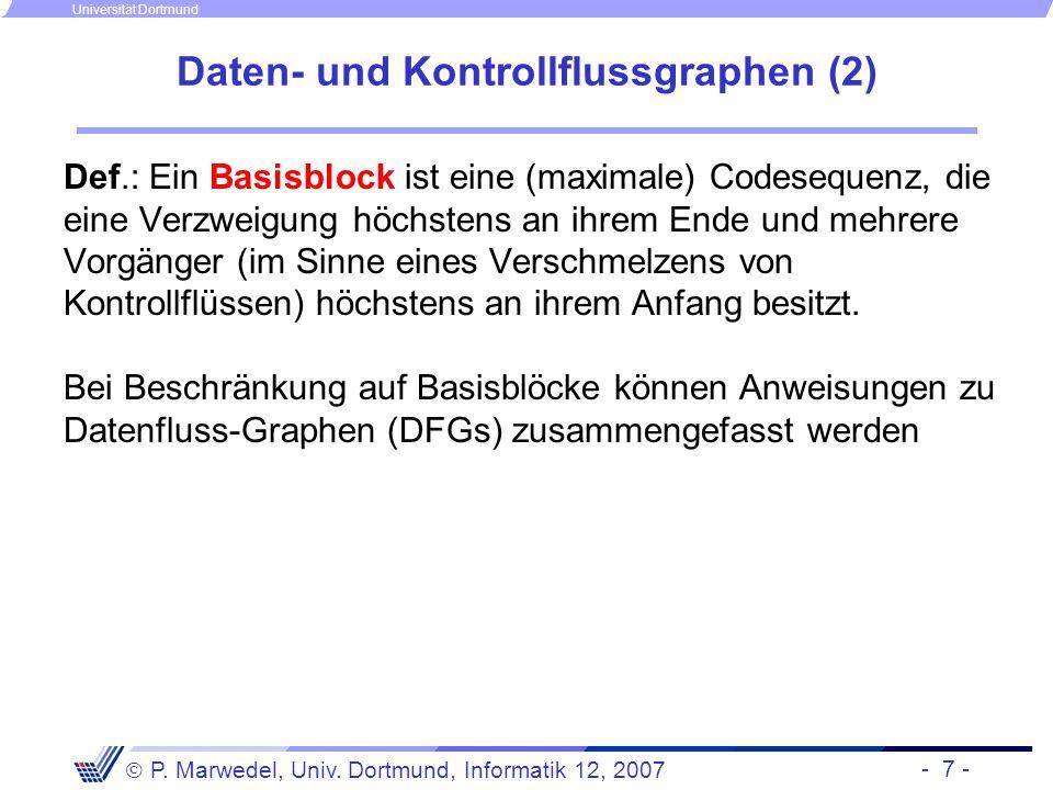 Daten- und Kontrollflussgraphen (2)