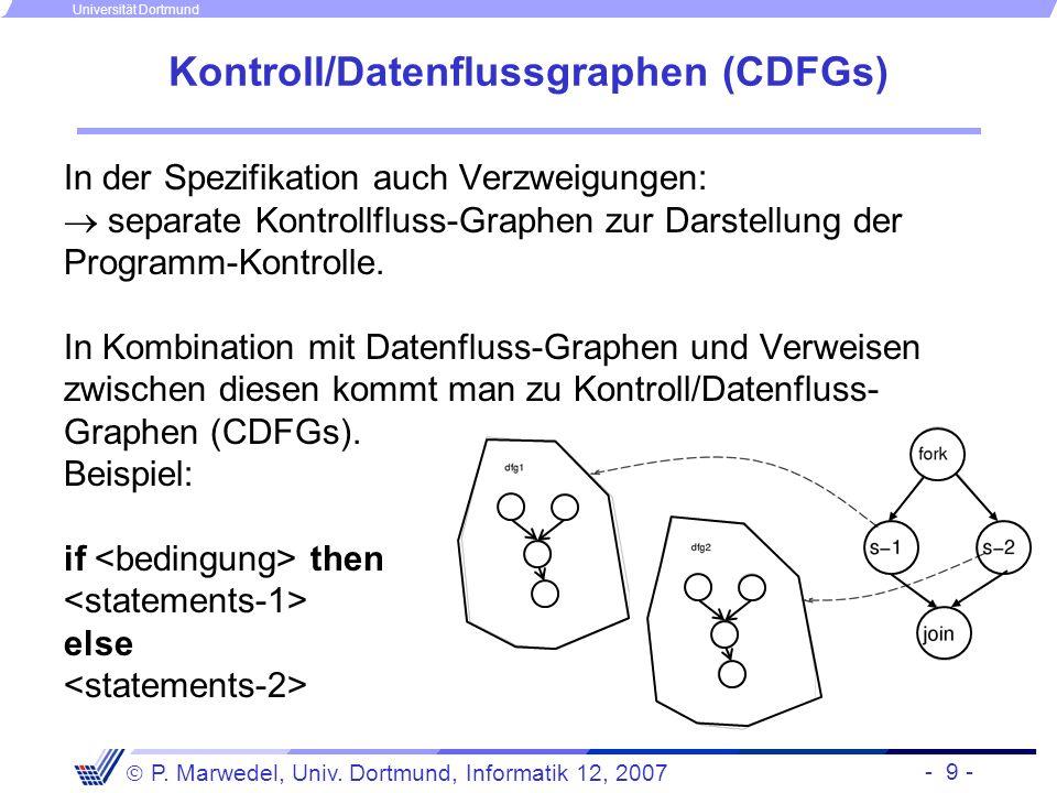 Kontroll/Datenflussgraphen (CDFGs)