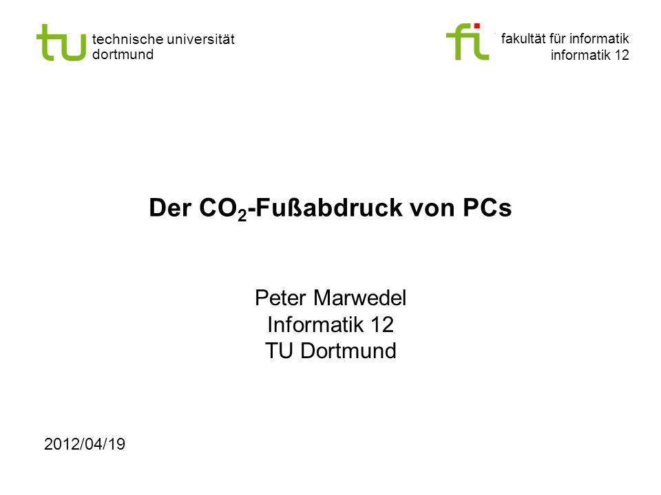 Der CO2-Fußabdruck von PCs