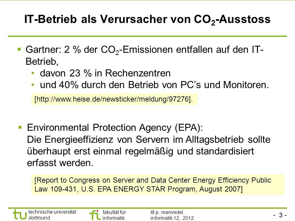 IT-Betrieb als Verursacher von CO2-Ausstoss