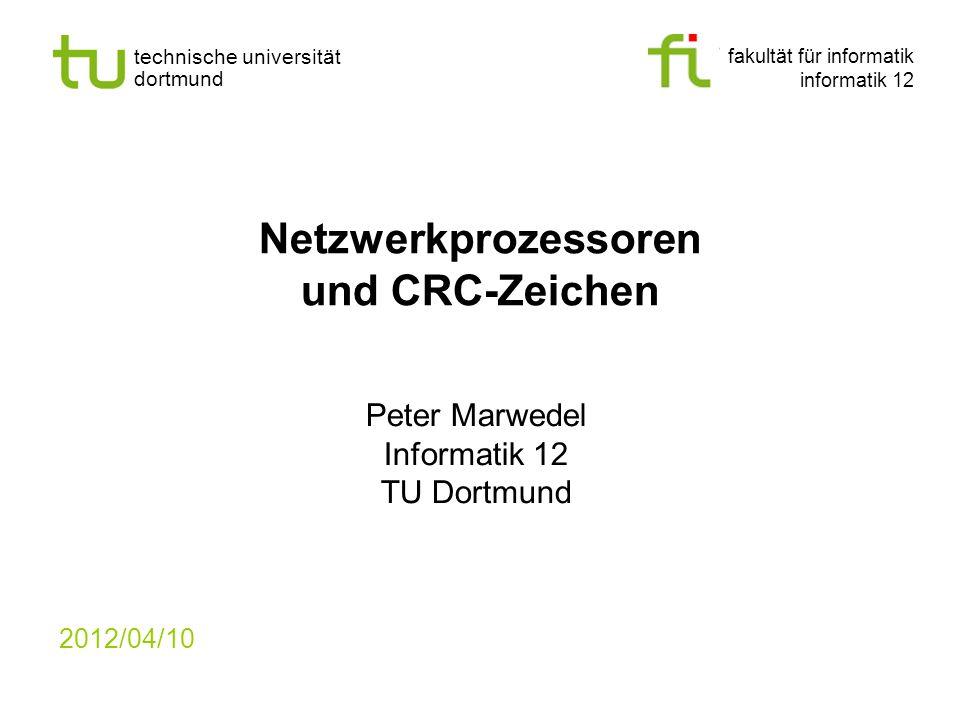 Netzwerkprozessoren und CRC-Zeichen