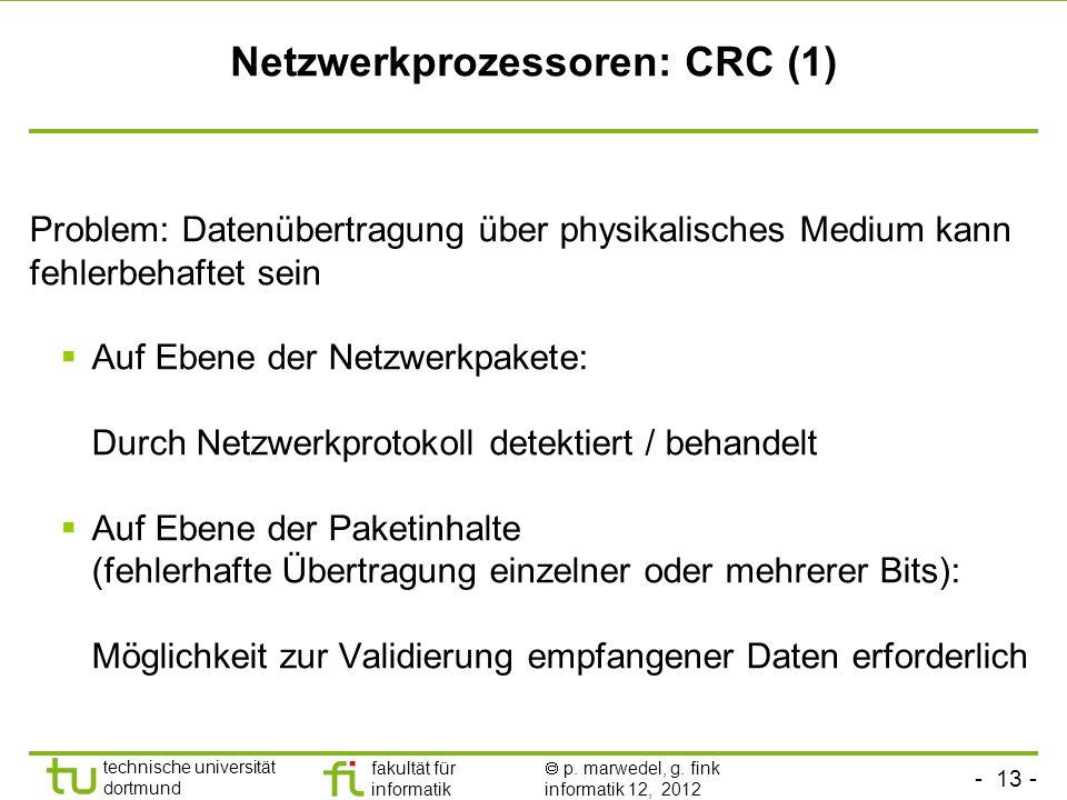 Netzwerkprozessoren: CRC (1)