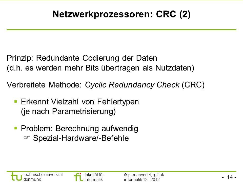 Netzwerkprozessoren: CRC (2)