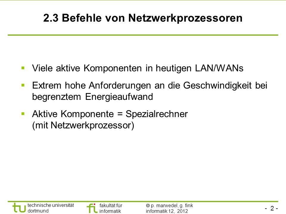 2.3 Befehle von Netzwerkprozessoren