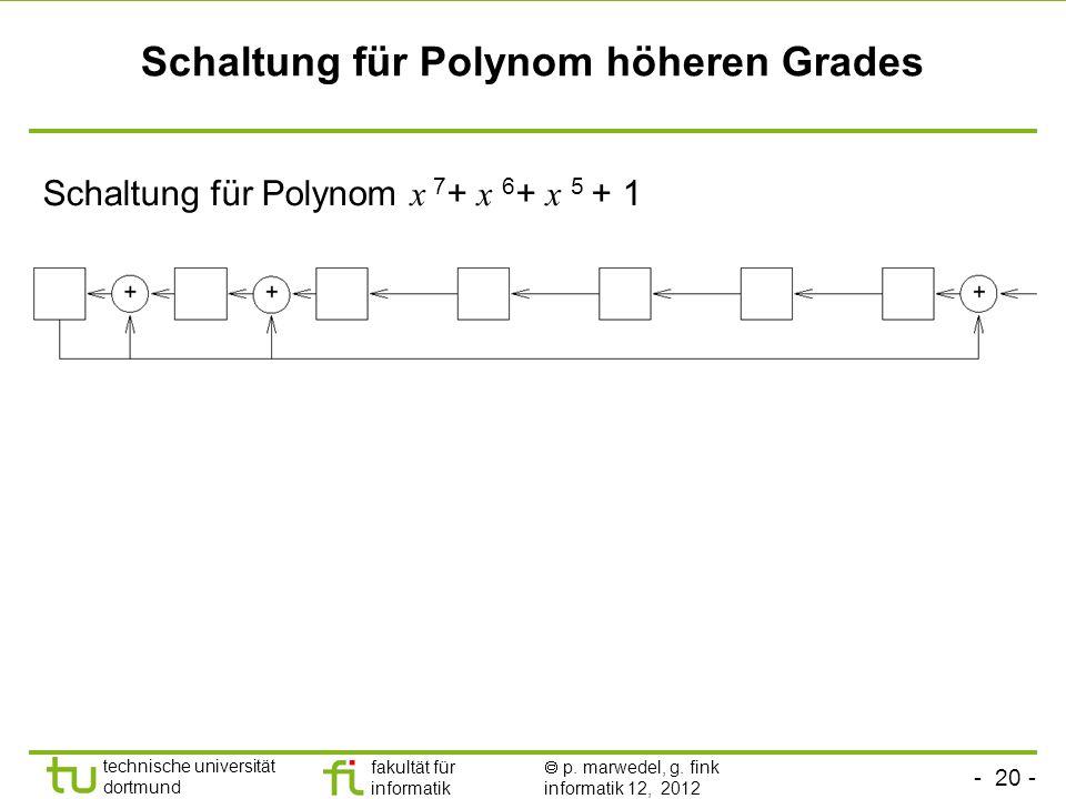 Schaltung für Polynom höheren Grades