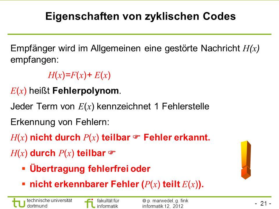 Eigenschaften von zyklischen Codes