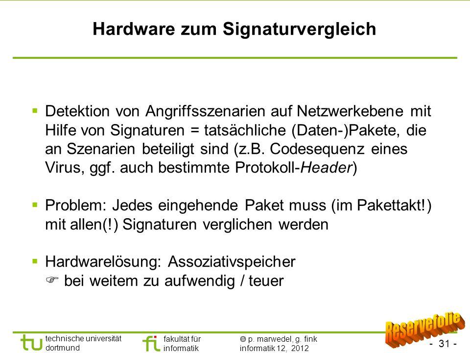 Hardware zum Signaturvergleich