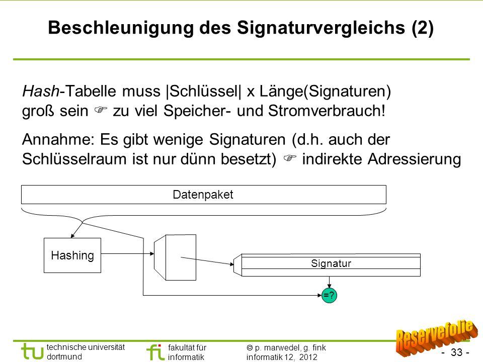 Beschleunigung des Signaturvergleichs (2)