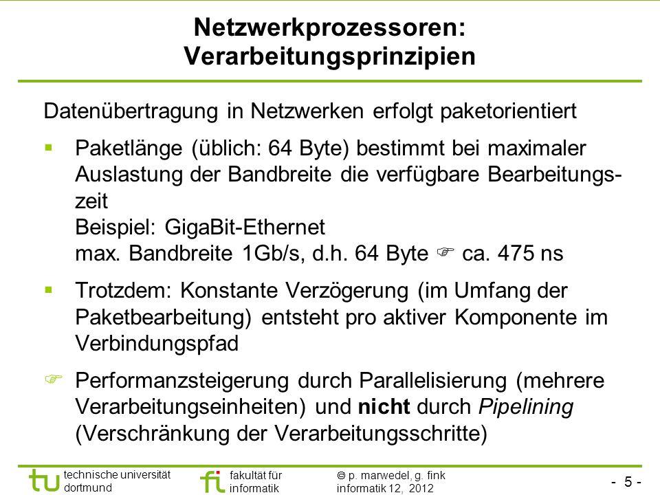 Netzwerkprozessoren: Verarbeitungsprinzipien