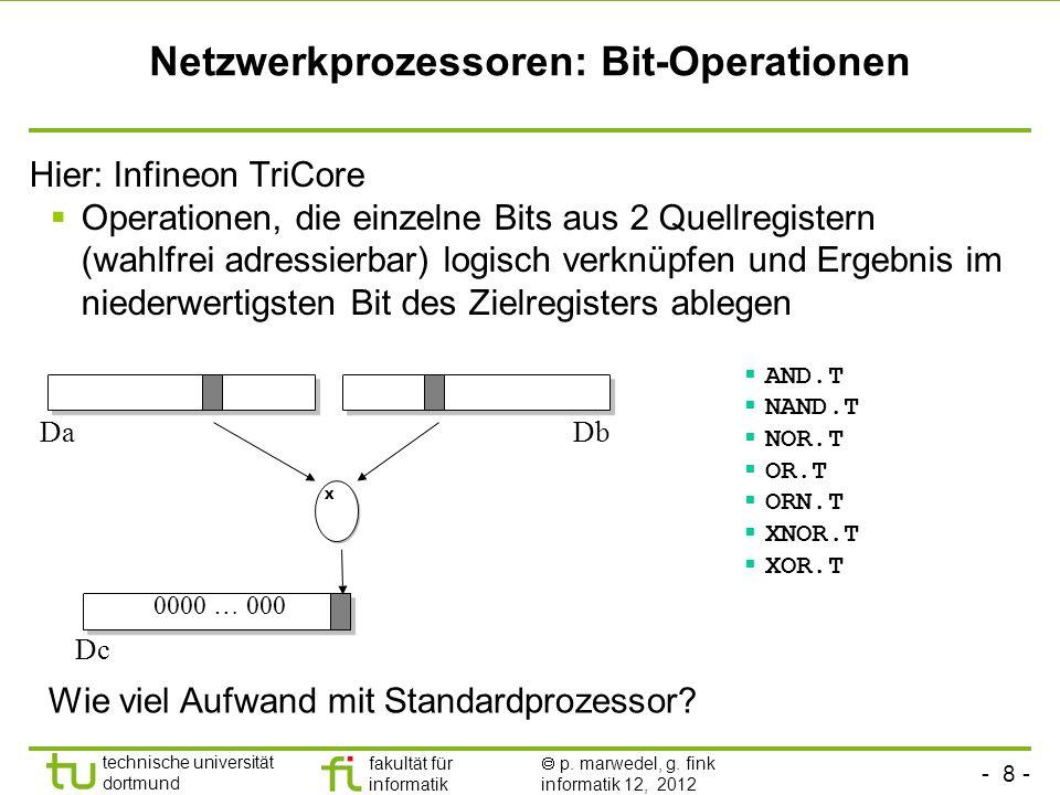 Netzwerkprozessoren: Bit-Operationen