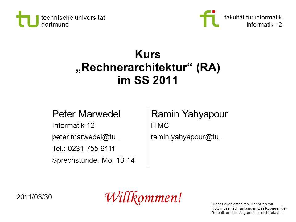 "Kurs ""Rechnerarchitektur (RA) im SS 2011"