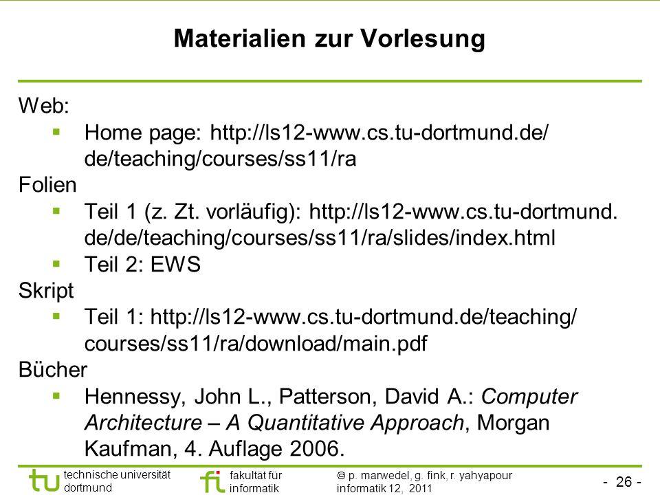 Materialien zur Vorlesung