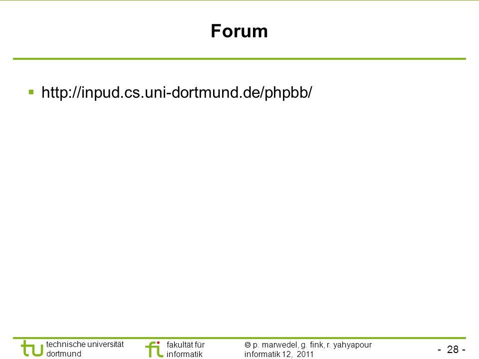 Forum http://inpud.cs.uni-dortmund.de/phpbb/
