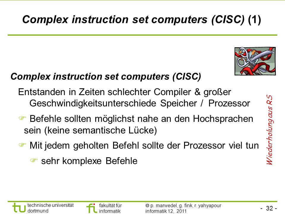 Complex instruction set computers (CISC) (1)