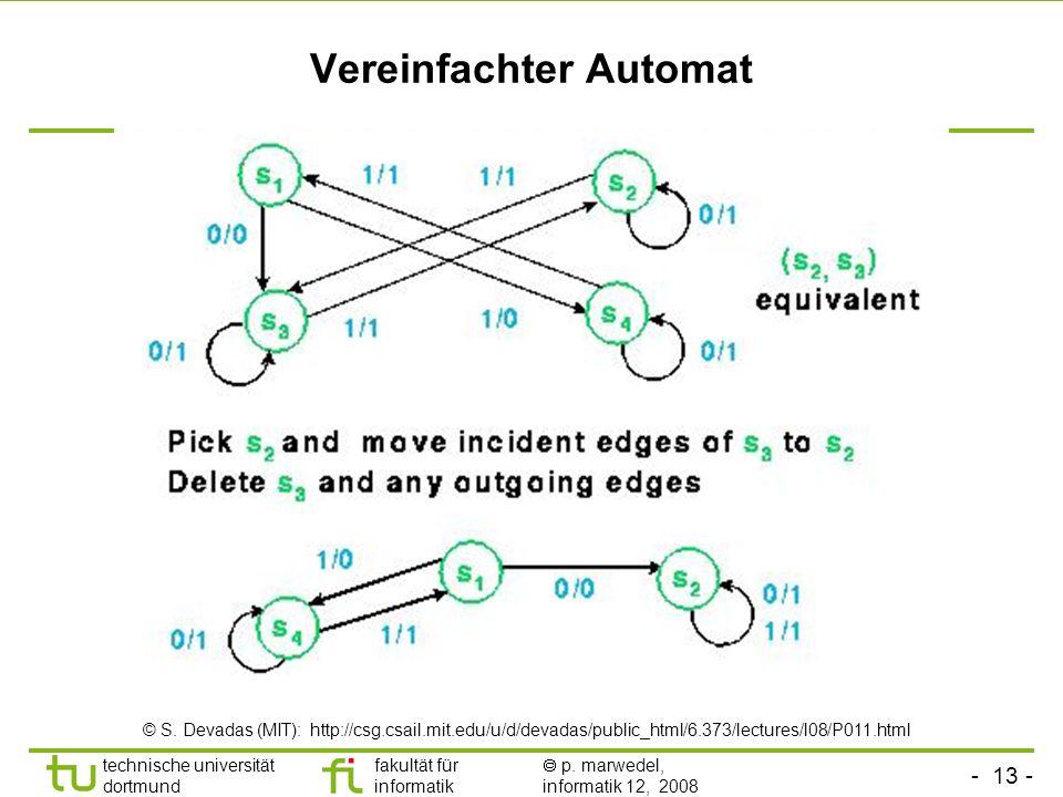 Vereinfachter Automat