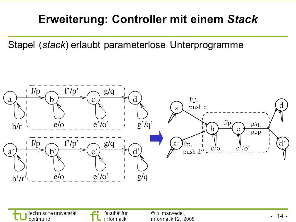 Erweiterung: Controller mit einem Stack