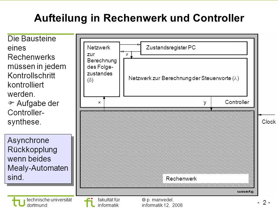 Aufteilung in Rechenwerk und Controller