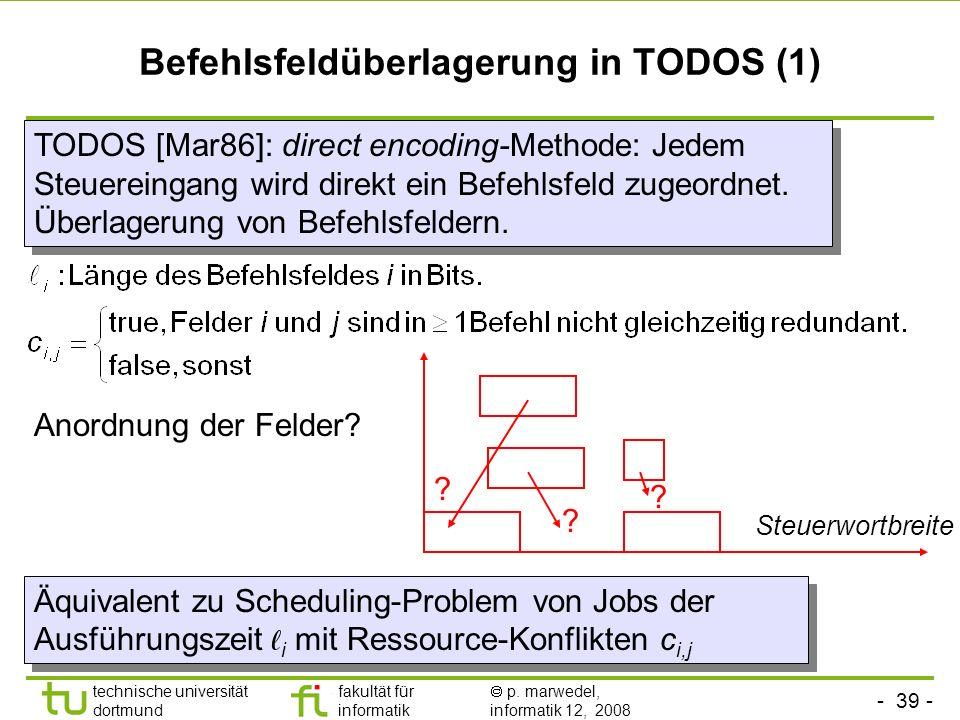 Befehlsfeldüberlagerung in TODOS (1)
