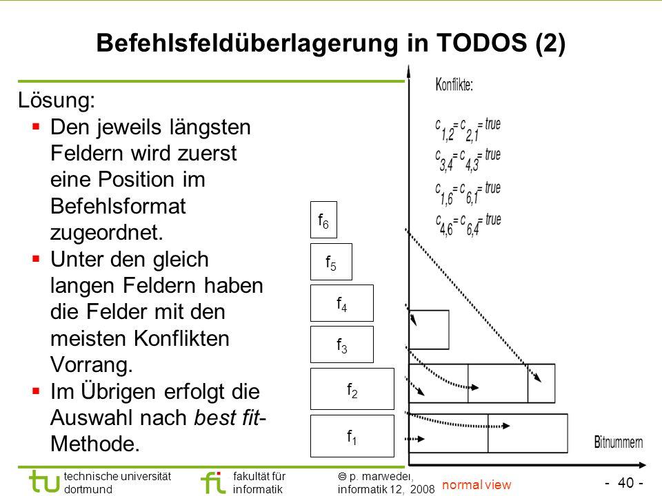 Befehlsfeldüberlagerung in TODOS (2)