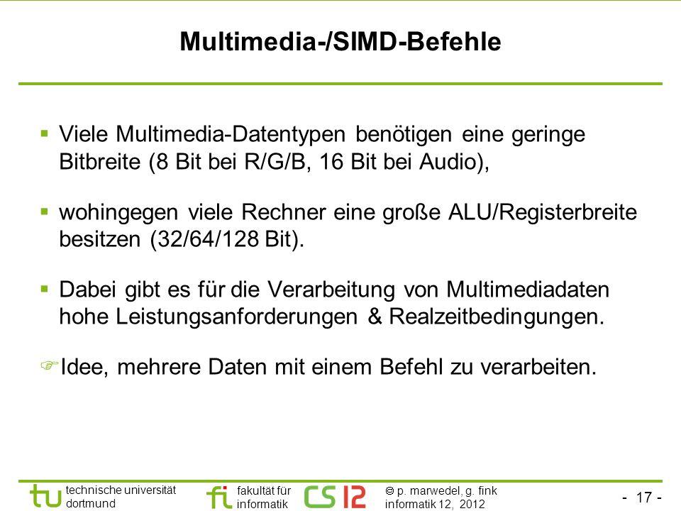 Multimedia-/SIMD-Befehle
