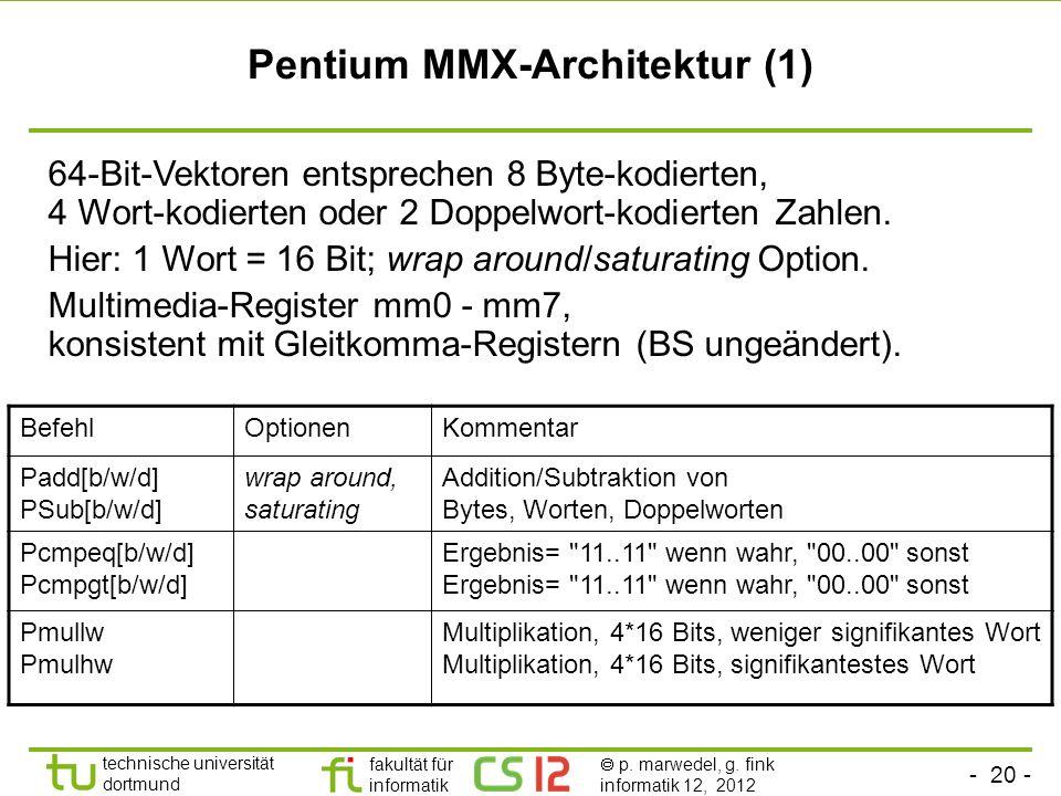 Pentium MMX-Architektur (1)