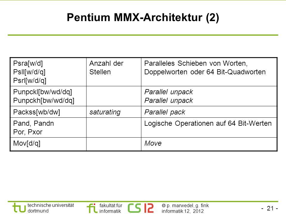 Pentium MMX-Architektur (2)
