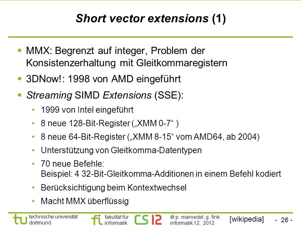Short vector extensions (1)