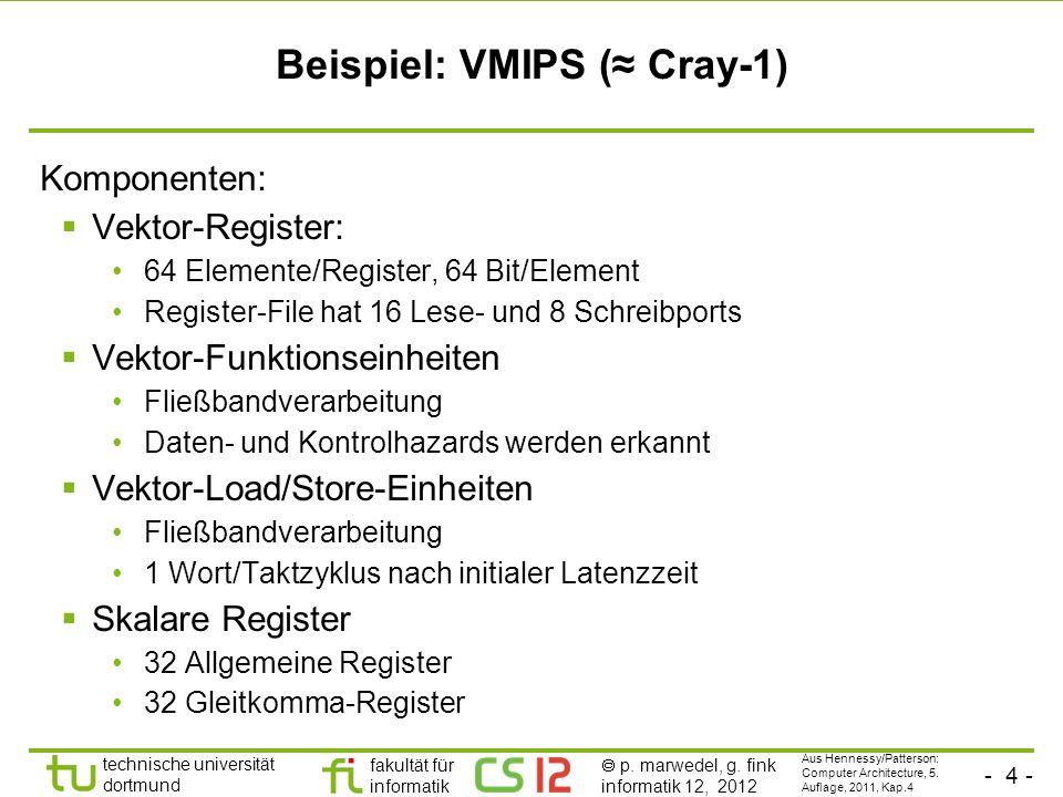 Beispiel: VMIPS (≈ Cray-1)