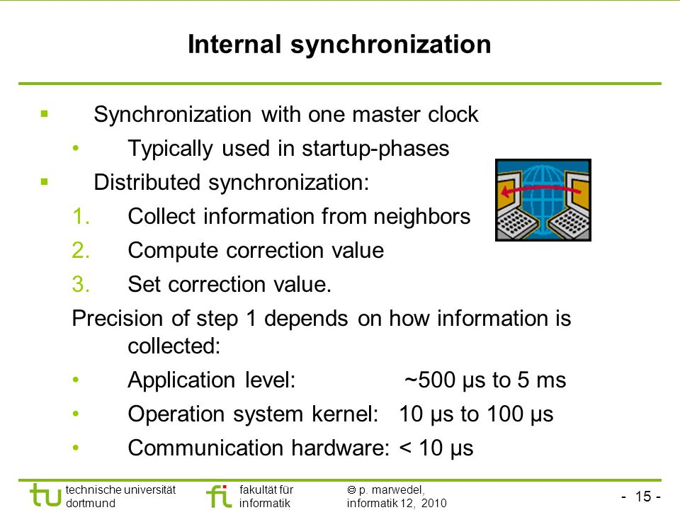 Internal synchronization