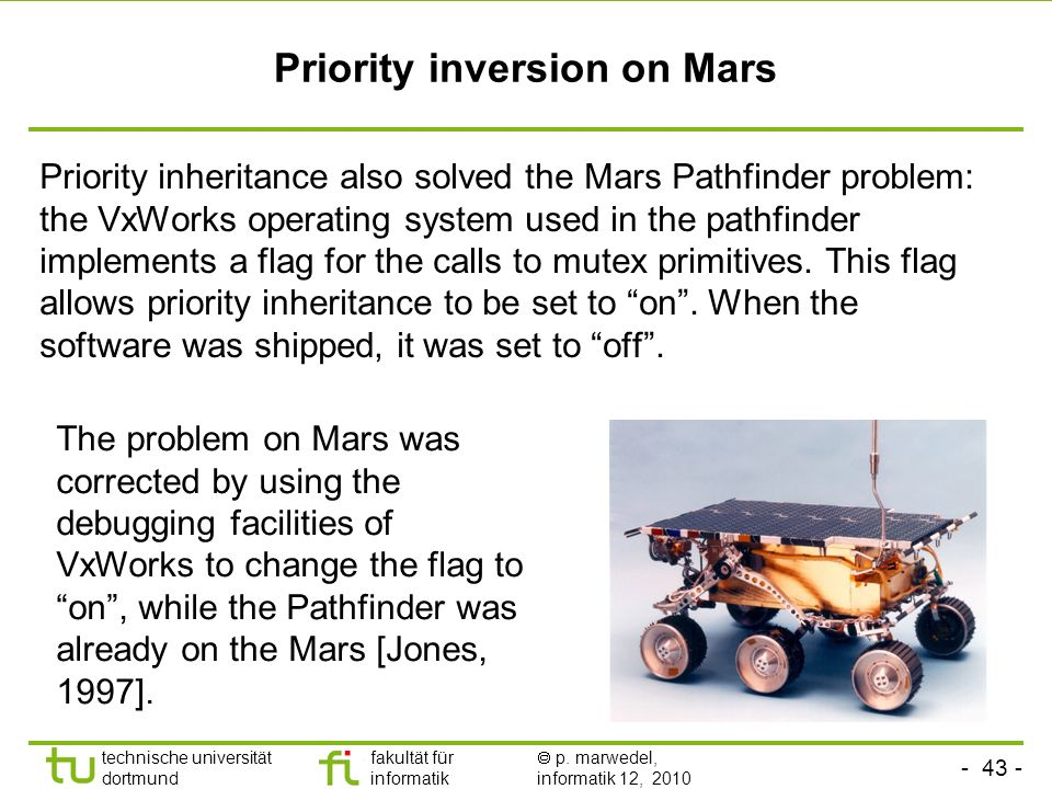 Priority inversion on Mars