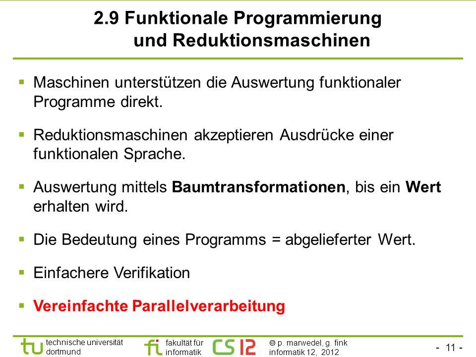 2.9 Funktionale Programmierung und Reduktionsmaschinen