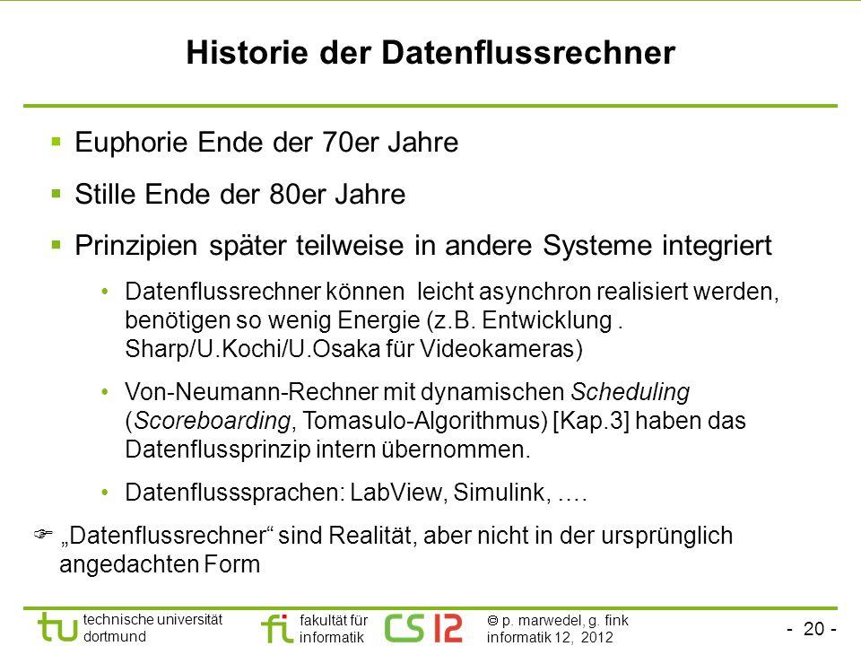 Historie der Datenflussrechner