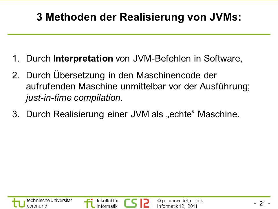 3 Methoden der Realisierung von JVMs: