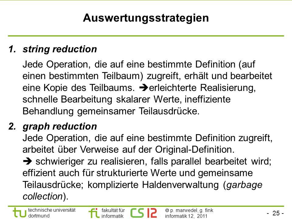 Auswertungsstrategien