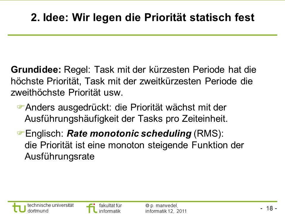 2. Idee: Wir legen die Priorität statisch fest