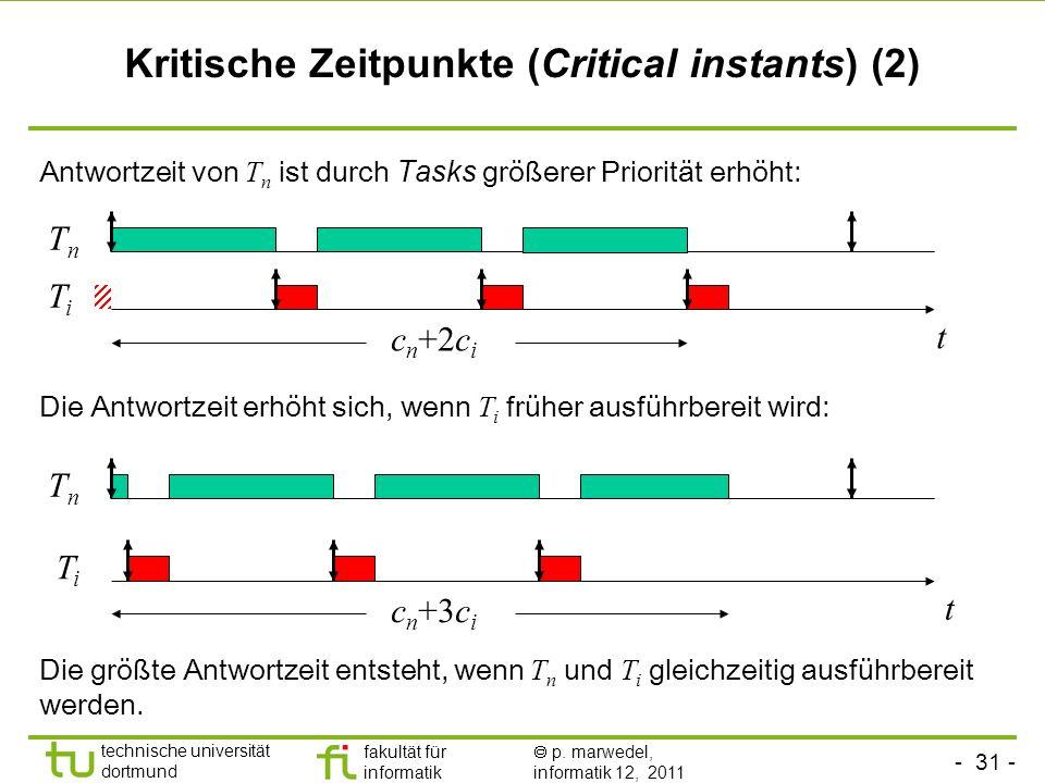 Kritische Zeitpunkte (Critical instants) (2)