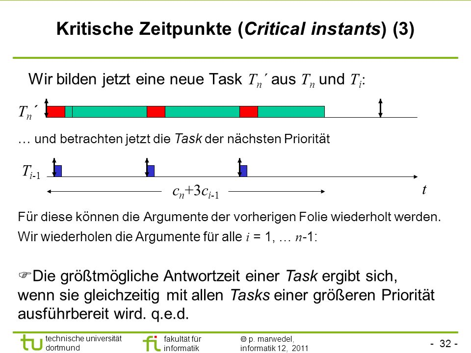 Kritische Zeitpunkte (Critical instants) (3)