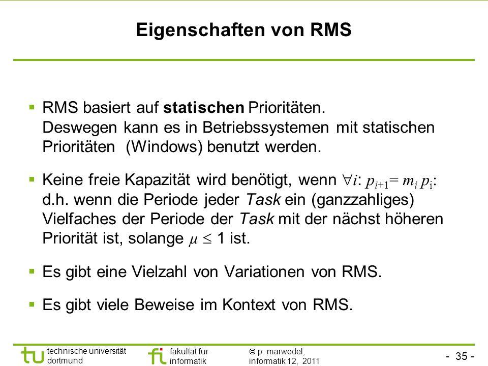 Eigenschaften von RMS