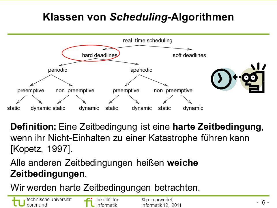 Klassen von Scheduling-Algorithmen