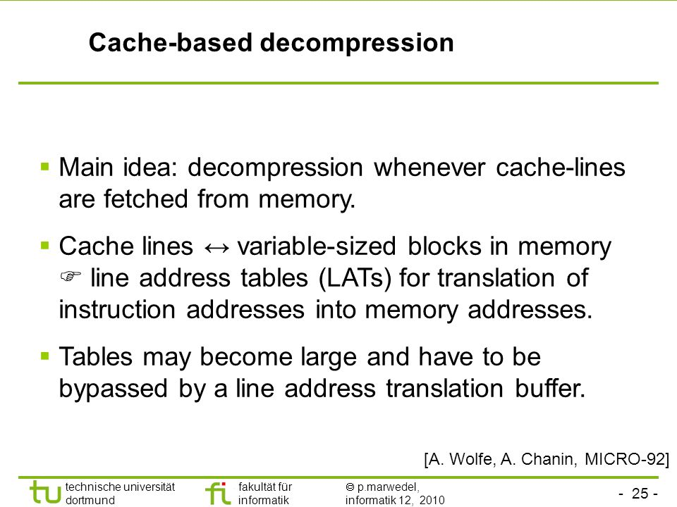 Cache-based decompression
