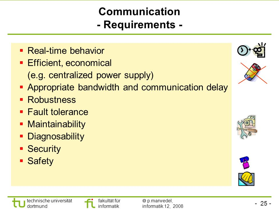 Communication - Requirements -