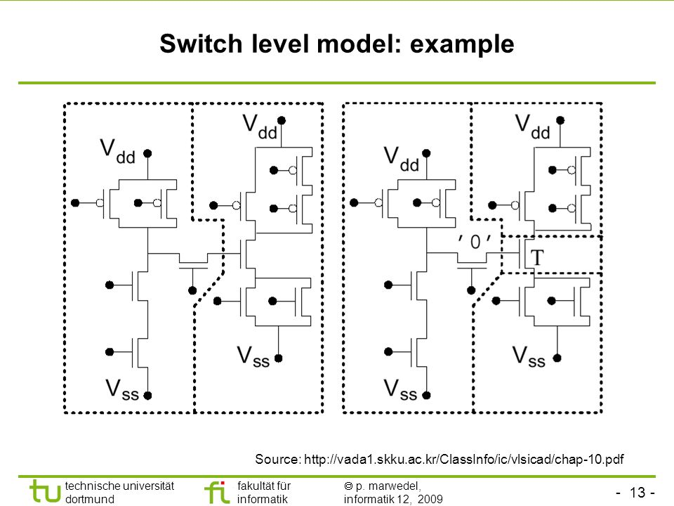 Switch level model: example