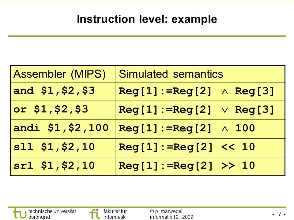 Instruction level: example