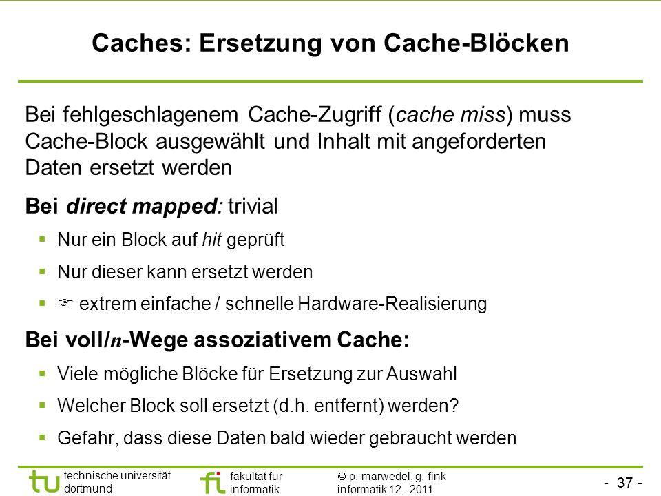 Caches: Ersetzung von Cache-Blöcken