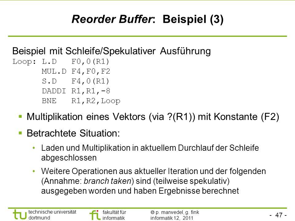 Reorder Buffer: Beispiel (3)