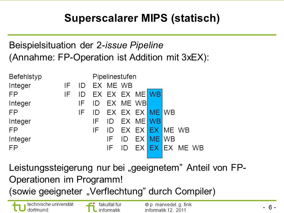 Superscalarer MIPS (statisch)