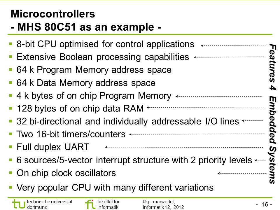 Microcontrollers - MHS 80C51 as an example -