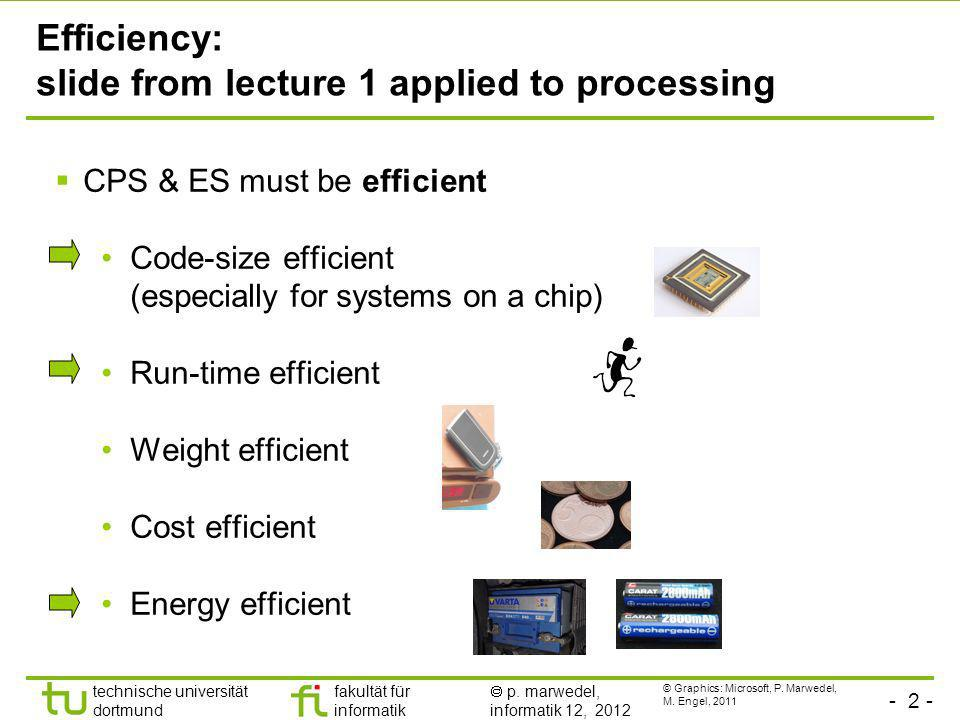 Efficiency: slide from lecture 1 applied to processing